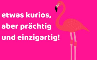 Ich bin wie ein Flamingo: etwas kurios, aber prächtig und einzigartig!