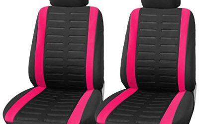 Upgrade4cars Auto-Sitzbezüge Vordersitze Pink Schwarz Auto-Schonbezüge Set Universal Rosa Auto-Zubehör Innenraum