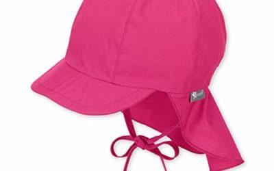 Sterntaler Schirmmütze für Mädchen mit Nackenschutz und Bindebändern, Alter: 9-12 Monate, Größe: 47, Pink (Magenta)